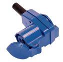 as-Schwabe 60474 CEE-Winkelkupplung 230V/16A, blau, 3polig