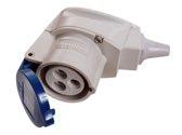 as-Schwabe 60475 CEE-Winkelkupplung 230V,16A, blau, 3polig