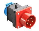 as-Schwabe 60495 Adapterstecker 400V/16A, CEE-Gerätestecker Schutzkontaktsteckdose 230V
