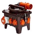 as-Schwabe 60554 Baustellen-Stromverteiler M3 400V