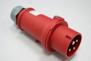 as-Schwabe 60570 CEE-Stecker, rot, mit Schraubanschluss 400V/16A/4polig/6h -IP44-
