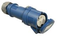 as-Schwabe 60592 CEE-Kupplung 230V/32A, blau, mit Klappdeckel