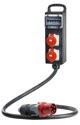 as-Schwabe 60807 Vollgummi-Steckdosenleiste S11, 3polig 400V/63A/max. 43kW-IP 44-