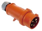 as-Schwabe 61422 MENNEKES CEE-Stecker 400V/ 32A, rot, mit Schraubanschluss