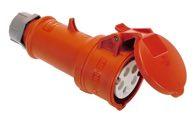as-Schwabe 61425 MENNEKES CEE-Kupplung 400V/ 16A, rot, mit Klappdeckel