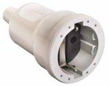 as-Schwabe 62224 PVC-Kupplung, weiß, max. Querschnitt 1,5mm² 230V/16A