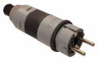 as-Schwabe 62232 SCHUKOultra Pro Stecker grau/schwarz