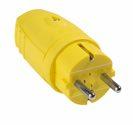 as-Schwabe 62403 Gummistecker, gelb, doppelter Schutzkontakt