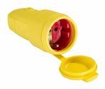 as-Schwabe 62413 Gummikupplung, gelb, mit Deckel max. Querschnitt 2,5mm²