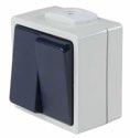 as-Schwabe 62451 Serienschalter, 2 Leitungseinführungen. IP 54