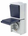 as-Schwabe 62455 Kombination Aus-/Wechselschalter/Steckdose IP 54