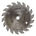 wolfcraft 1 Kreissägeblatt HM, 18 Zähne ø127mm - 6355000