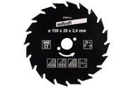 wolfcraft 1 Kreissägeblatt HM, 20 Zähne ø150mm - 6364000