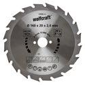 wolfcraft 1 Kreissägeblatt HM, 20 Zähne ø160mm - 6368000