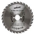 wolfcraft 1 Kreissägeblatt HM, 30 Zähne ø190mm - 6377000