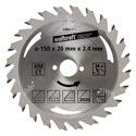 wolfcraft 1 Kreissägeblatt HM, 24 Zähne ø150mm - 6464000
