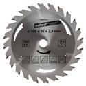 wolfcraft 1 Kreissägeblatt HM, 24 Zähne ø160mm - 6467000
