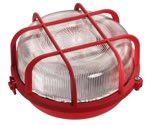 as-Schwabe 66003 Rundleuchte 100W, rot, Kristallglas , Fassung E27 (EEK: E)