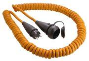 as-Schwabe 70413 Baustellen-Spiralkabel 5 m, orange, Stecker u. Kupplung