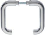 Dieckmann Türdrückerpaar 104Z Alu.0105 o.Rosetten VK 8mm - 1104/0808/01