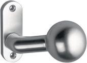 Dieckmann Rahmentür-Knopf 1388/0000 Material Alu. F1 4-KT. 8mm feststehend - 1388/0000/01