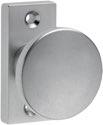 Dieckmann Rahmentür-Knopf 1394/0000 Alu. F1 Aufnahme M12 ger. - 1394/0000/01
