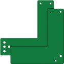 GfS Montageplatte 901 470/991 470 Mont.an GLT grün lack.L.175mm B.170mm - 991 470