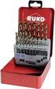 Ruko Spiralbohrersatz Din338 Typ Va D.1-10X0,5mm Hss-Co5 19Tlg.Metallkassette - 215214