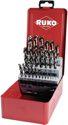 Ruko Spiralbohrersatz Din338 Typ Va D.1-13X0,5mm Hss-Co5 25Tlg.Metallkassette - 215215