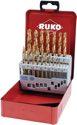 Ruko Spiralbohrersatz Din338 Typ N D.1-13X0,5mm Hss Tin 25Tlg.Metallkassette - 250215T