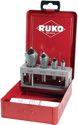 Ruko Querlochsenkersatz 2-5/5-10/10-15/15-20mm Hss-Co5 5 Tlg. Metallkassette - 102312E