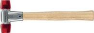 Halder Schonhammer Baseplex Gesamt-L.270mm Kopf-D.25mm Hart Celluloseacetat Rot - 3906025