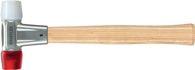 Halder Schonhammer Baseplex Kopf-D.25mm Hart Nyl. Weiß/Celluloseacetat Rot - 3968025