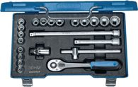 Gedore Steckschlüsselsatz 3/8Zoll 23Tlg. 6-22mm 6Kt Umschaltknarre - 6235470