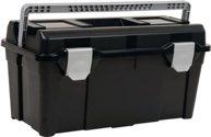 raaco Werkzeugkoffer B.580xH.285xT.290mm a.PP m.Schnappverschluss schwarz/silber - 715195