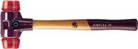 Halder Schonhammer Simplex Gesamt-L.300mm Kopf-D.30mm Hart Plastik Rot - 3006030