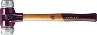 Halder Schonhammer Simplex Gesamt-L.300mm Kopf-D.30mm Hart Weichmetall Silber - 3009030