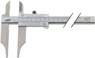 Helios-Preisser Werkstattmessschieber DIN862 200mm m.Spitzen parallaxfrei Schnabel-L.80mm - 230501