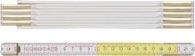 BMI Holzgliedermaßstab 2m weiß-gelb verdeckte Nieten verstärkte Glieder - 984914200WG