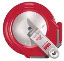 BMI  Stahlbandmaß Radius L.10M mm/- Weiß Flextop  Genauigk.Ii - 50121  4010Af