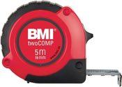 BMI  Taschenrollbandmaß Twocomp L.2M Band-B.16mm M.Gürtelclip  - 472241021