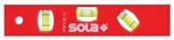 Sola Wasserwaage L.20cm Ku. Magnetstreifen 3Libellen 45Gradmessungen - 1430601