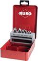 Ruko Senkbitsatz 1/4 Zoll 6Kt 6,3-20,5mm 90Grad Hss Metallkassette - W102319