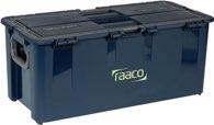 raaco Werkzeugkoffer B.620xT.260xH.315mm 10Fächer/Trennw./Träger Trgf.50kg a.PP - 136617
