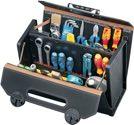 Parat Werkzeugtasche B.420xT.185xH.315mm 24l Rindleder schw. Mittelw. CP-7 Stecksyst. - 16-571