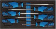 Gedore Werkzeugmodul T.310mmxB.157,5mm 6tlg. Schraubendreher 3-Komp.-Griff Schlitz/PZD - 2309149