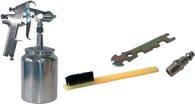 Aerotec Farbspritzpistole Druckluft ca.2,1-3,3bar/Edelstahldüse1,8mm/Saugbecher/m.Koffer - 160123M