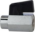 Riegler Mini-Kugelhahn mit Flügelgriff IG/IG 1/8 Zoll - 103339