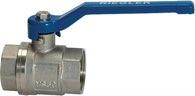Riegler Messing Kugelhahn / G 1 1/2 vernickelt / Innen/Innengewinde valve line - 115717