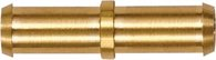 Riegler Gerader Schlauchverbindungsstutzen, für Schlauch LW 6 mm, Messing - 133403